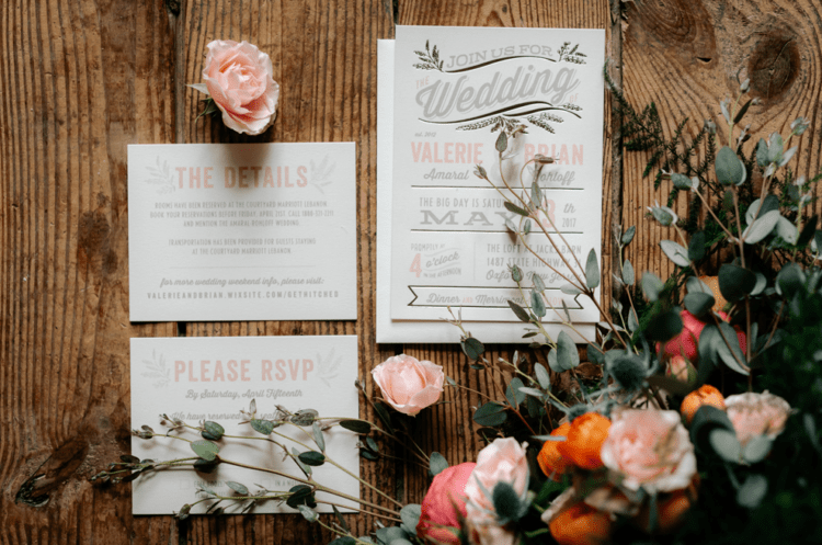 Most of wedding stationery was designed by the groom himself