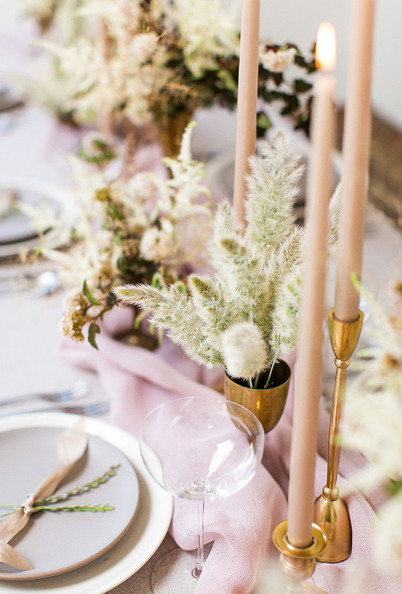 Some gilded touches and exquisite glasses were added to the tablescape to make it awesome