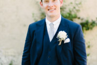 navy suit for a groom