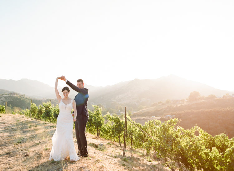 The wedding was a vineyard one, with natural chic and tranquility