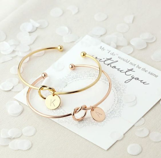 personalized knot bracelets to pop up the question and to wear on the big day