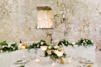 10 The wedding reception was very romantic and elegant, with lush blooms and foliage and candles
