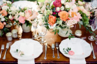 lush floral wedding table decor