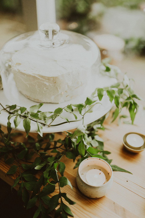 A wheel of cool cheese substituted a wedding cake, and it was a nice solution