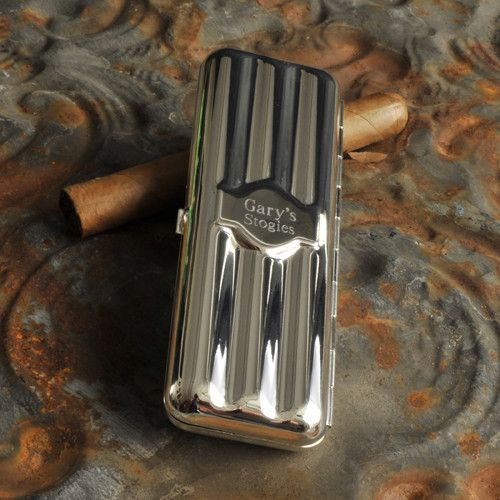 a stylish cigar case with some cigars inside is a chic gift for a guy
