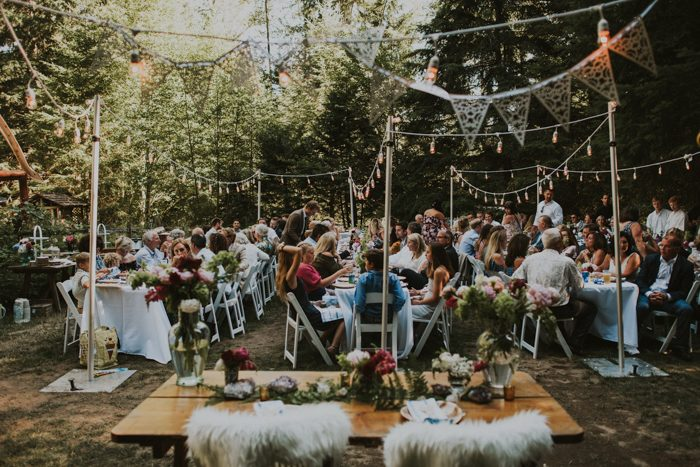 The reception looked like a forest fest