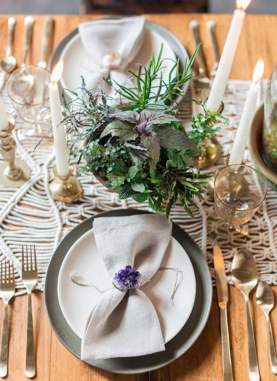 cute amethyst napkin rings will accentuate any place setting