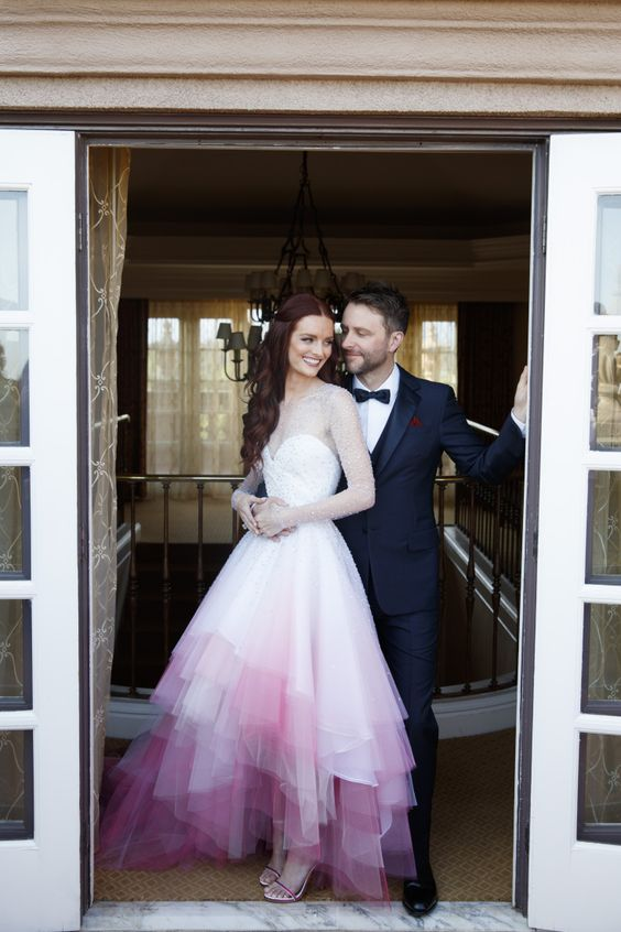Scenes from the wedding of Chris Hardwick and Lydia Hearst, at the Langham Huntington Hotel in Pasadena, CA., Aug. 20 2016.Photo credit:  JLC/Lara Porzak Photography