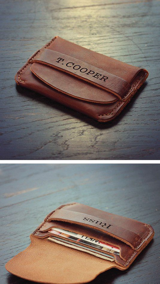 a personalized card holder - just add a tag and pop up the question