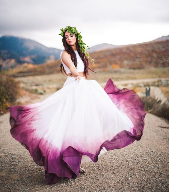 Picture of purple wedding gown touches junglespirit Images