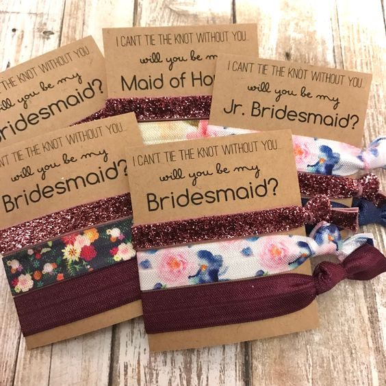 an assortment of hair ties to tie the knot in presence of your gals