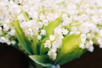 25 a gorgeous lily of the valley wedidng bouquet will smell and look amazing and very spring-like