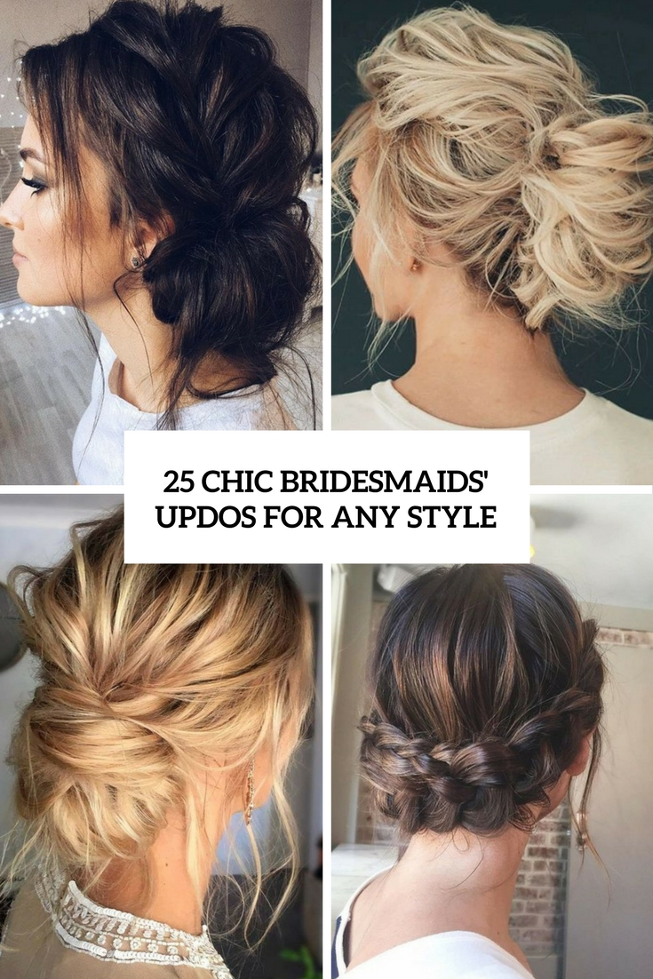 25 Chic Bridesmaids' Updos For Any Style