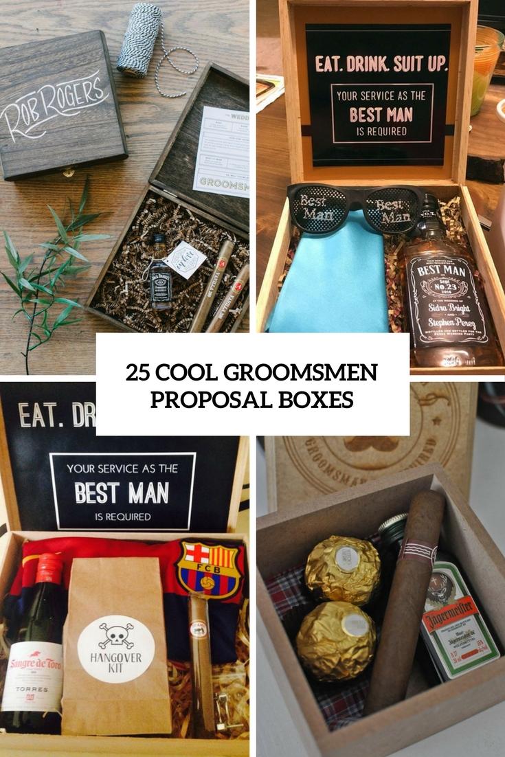 25 Cool Gel Nails Design Ideas: 25 Cool Groomsmen Proposal Boxes