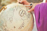 25 use a globe as a creative wedding guest book