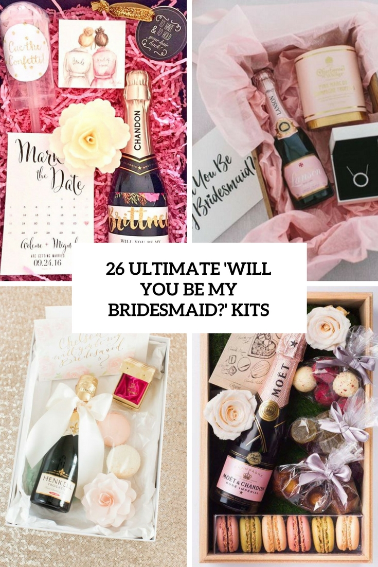 ultimate will you be my bridesmaid kits cover