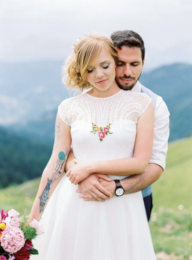 Simple And Intimate Wedding In The French Alps