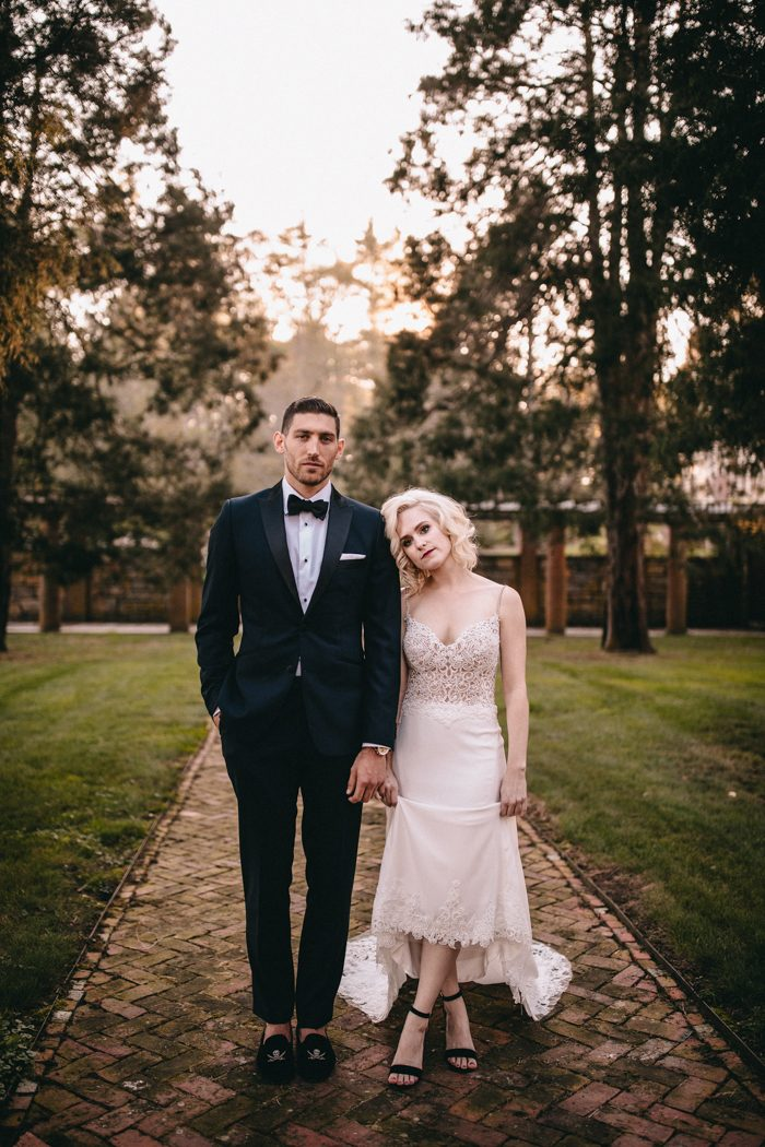 This dark and moody wedding showed the unique personalities of the couple
