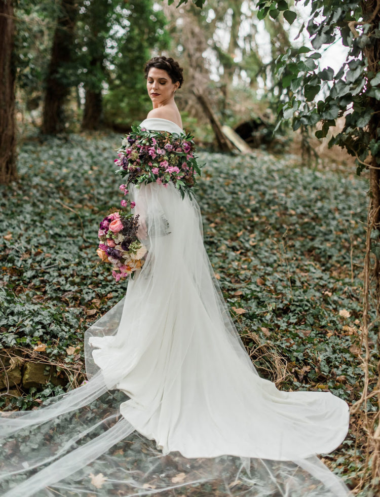 Shakespearian-Inspired Wedding With A Floral Cape
