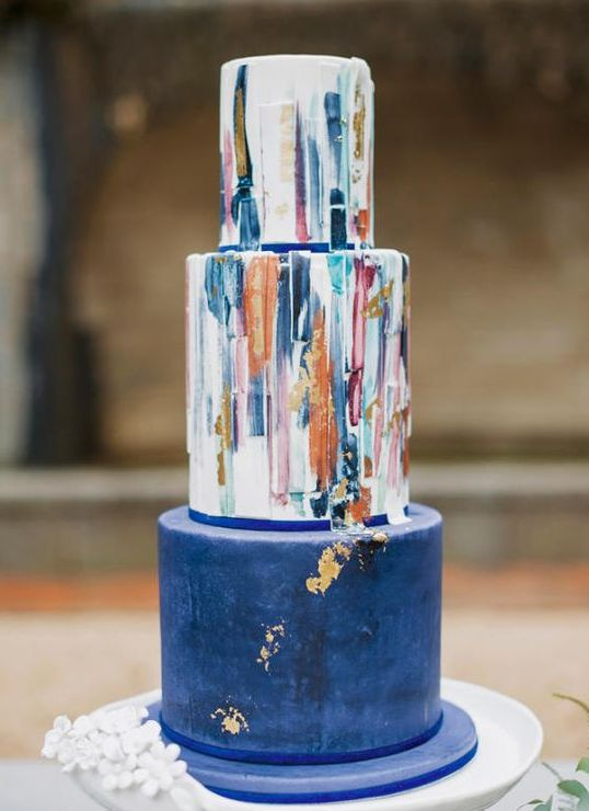 26 Watercolor Wedding Cakes To Blow Your Mind Away ...