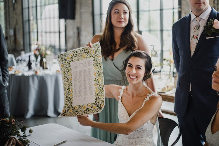 Some Jewish traditions were incorporated into the wedding