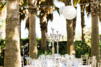 07 The tables were also moved to the garden because the grooms enjoy the tropical landscapes