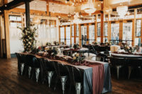09 The reception took place at a distillery, which was done in decadent and wild theme