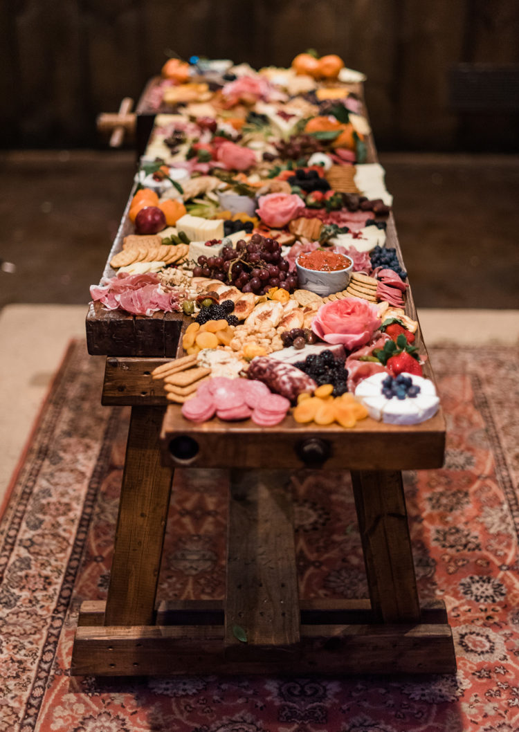 The appetizers was served on a large wooden platter and also looked vintage