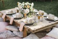 13 a cute glam picnic table done for a kids' zone of the reception to make kids have more fun