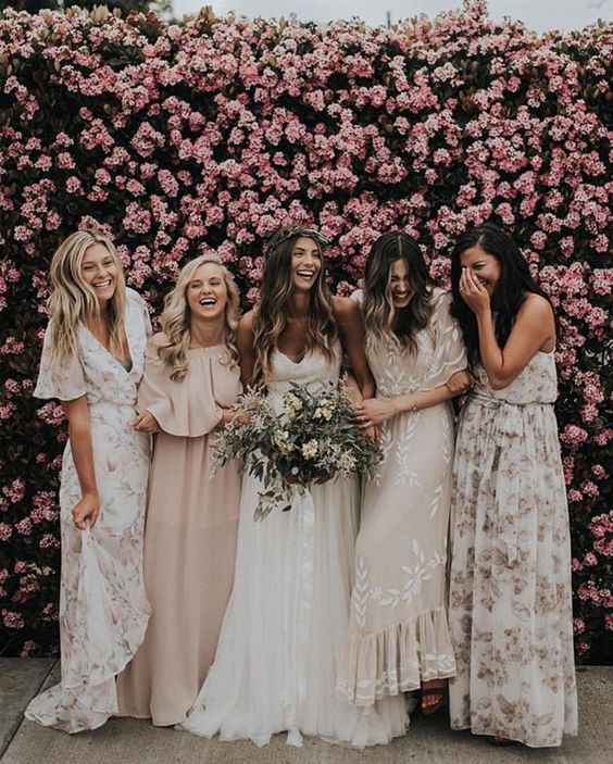 Floral Blush Bridesmaid Dresses 61 Off Pbpgi Org