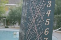 21 a creative string art seating chart is a fun solution and your guests will play this game with pleasure