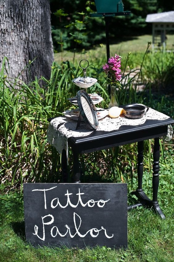 a tattoo station with henna as a fun idea for guests