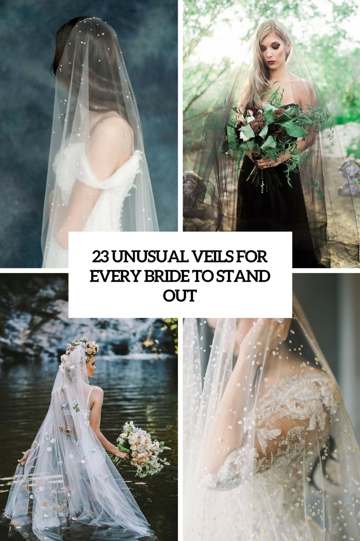 23 Unusual Veils For Every Bride To Stand Out