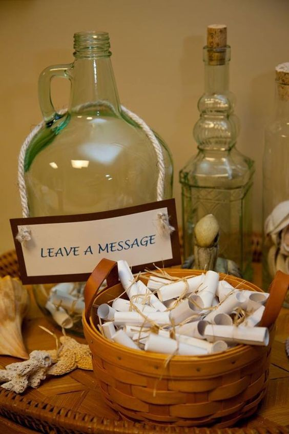 change a usual guest book for a bottle with messages