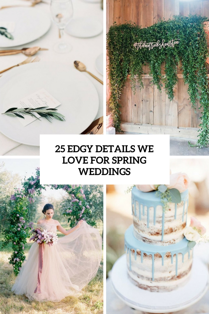 edgy details we love for spring weddings cover