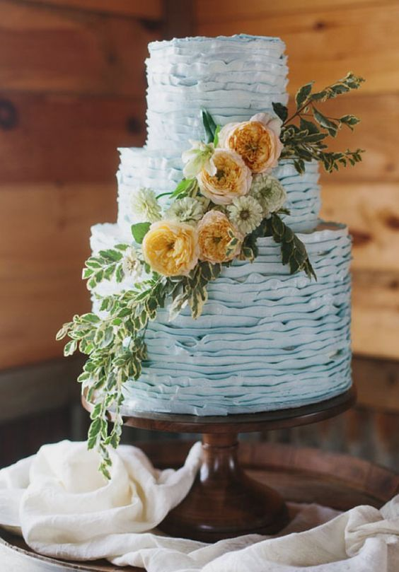 light blue and yellow wedding cakes 4 best wedding color combos with light blue weddingomania 16852
