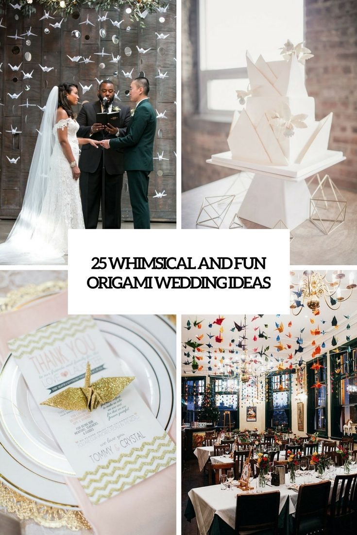 whimsical and fun origami wedding ideas cover
