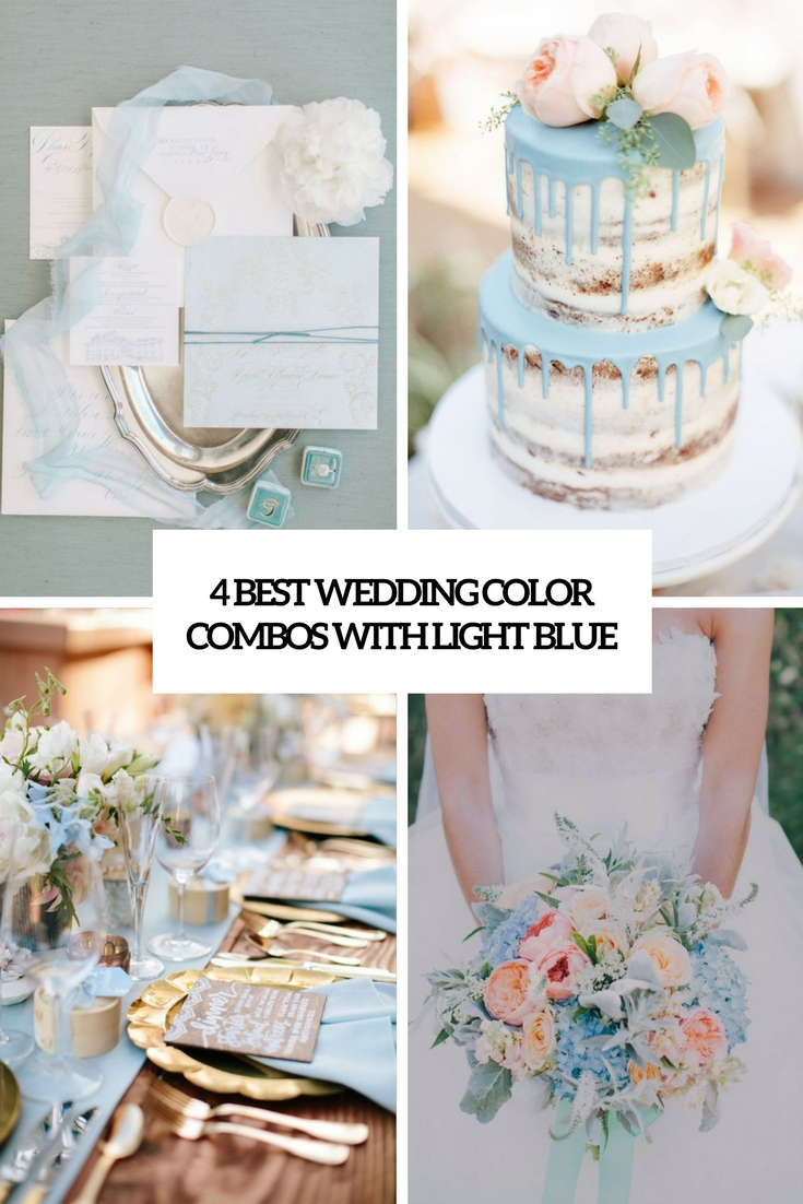 4 Best Wedding Color Combos With Light Blue
