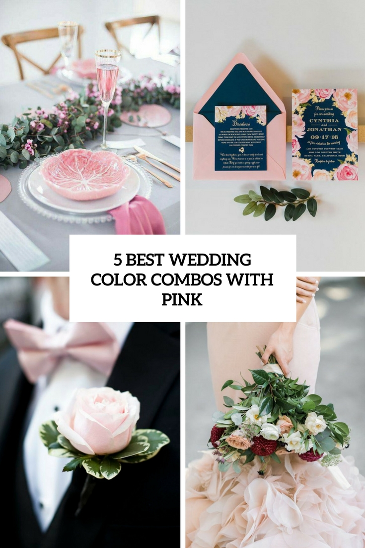 5 best wedding color combos with pink cover