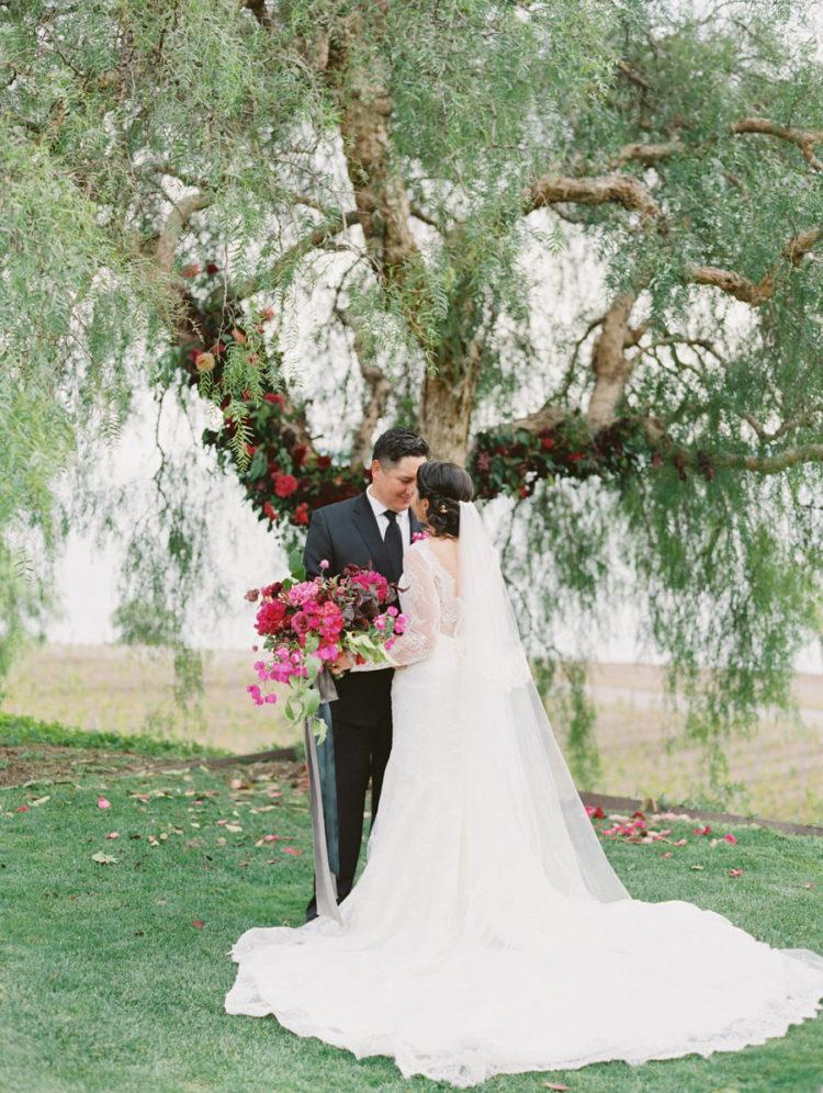 Elegant Vineyard Fall Wedding In Rich Shades