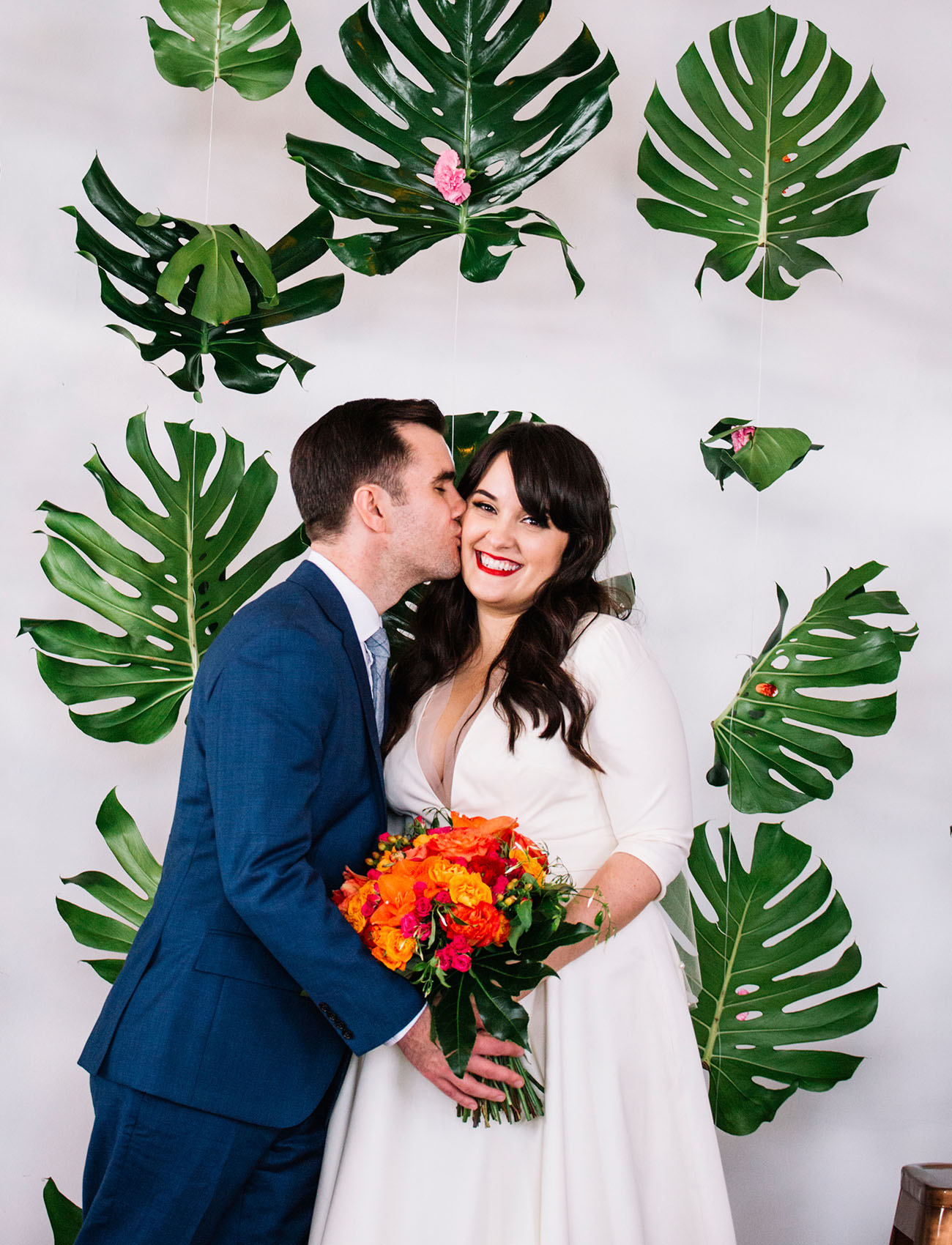 Picture Of This Couple Chose An Unusual Wedding Theme For An Urban