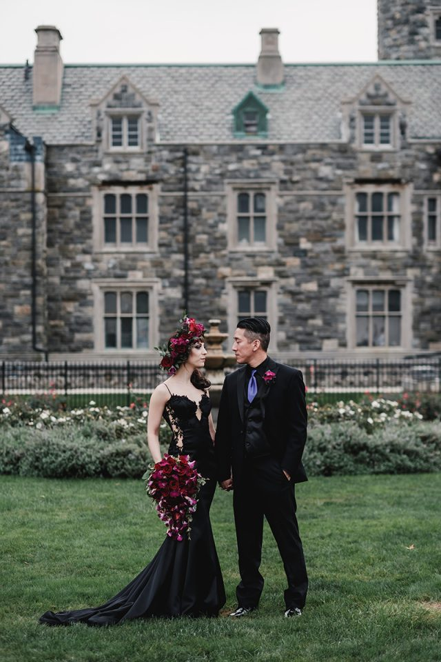 Elegant And Refined Gothic Castle Wedding
