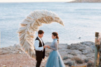 01 This wedding editorial took place in Greece, right on the sea shore and was inspired by fairytales and folk tales