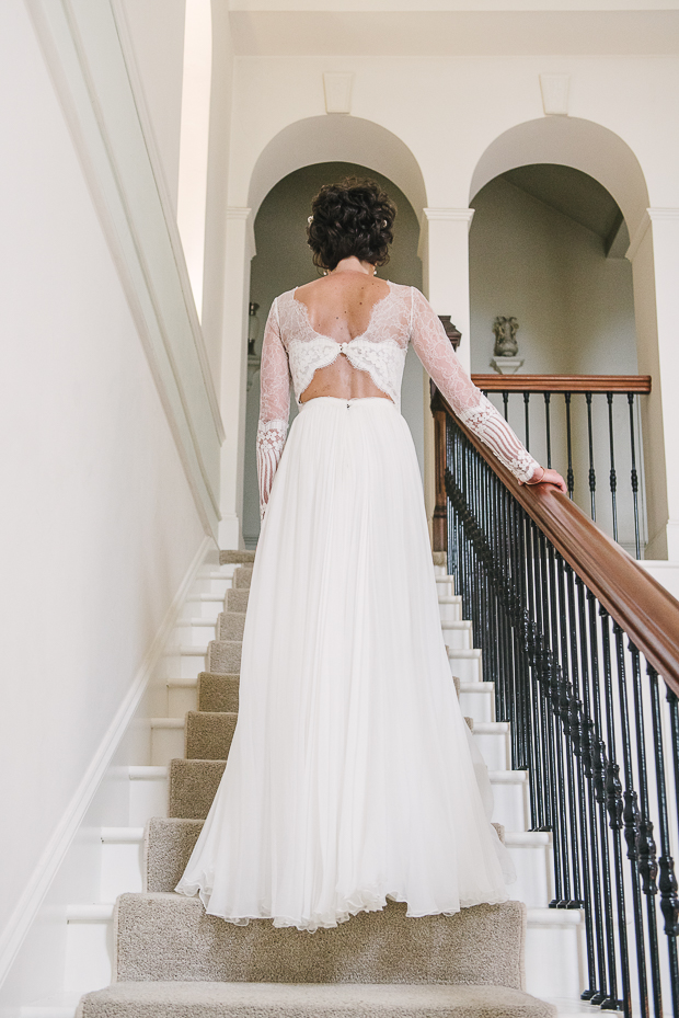 The back of the dress was a cutout one, it was a very sexy solution