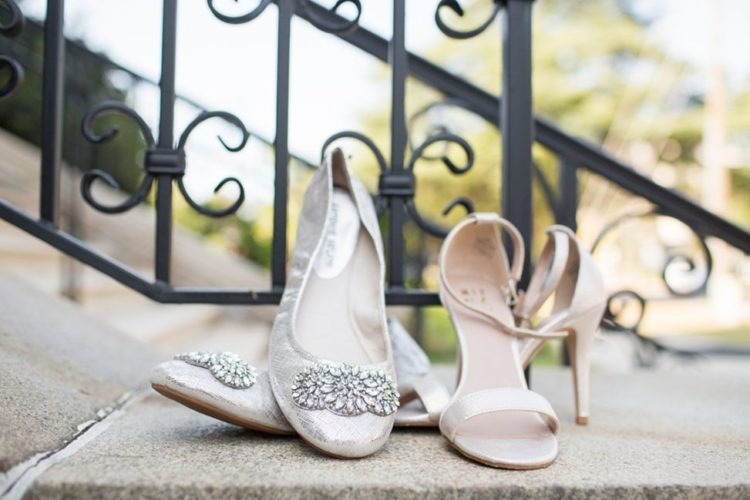 The girls were wearing embellished flats and heeled sandals for the wedding