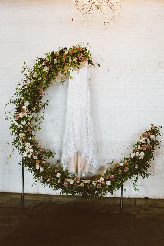Picture Of A Dreamy Crescent Moon Wedding Arch Made Fully