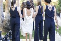 05 wide strap navy jumpsuits with cutout backs and ties for more comfortable wearing