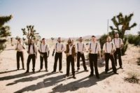 06 The groomsmen were wearing white shirts, brown pants and black suspenders