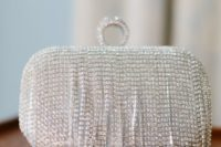 sparkling art decor bridal clutch
