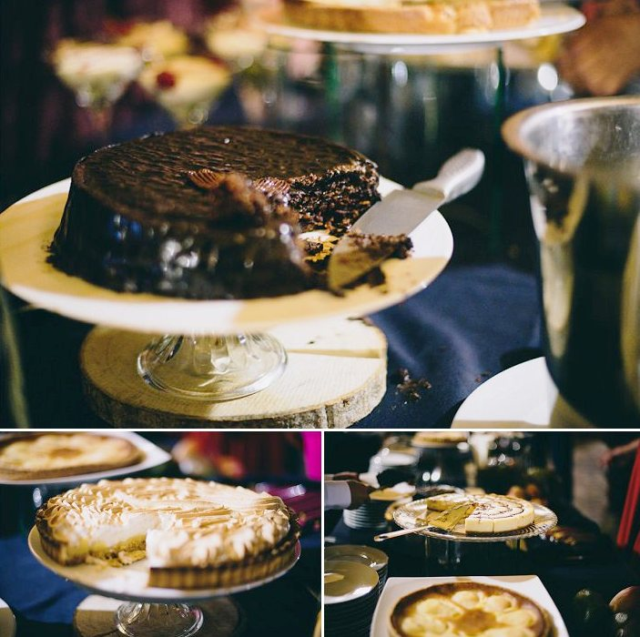 Here's a cake table with cakes of different types and looks to please everyone